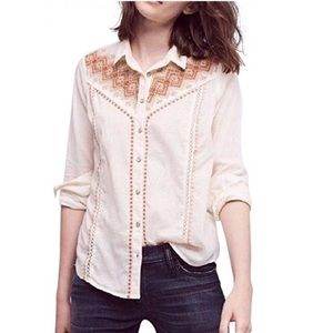 Anthropologie Holding Horses Iverie Western Shirt